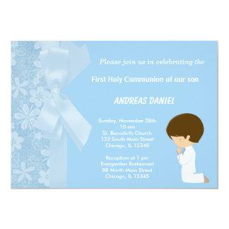Cartão O azul floresce o comunhão santamente