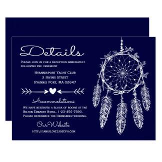 Cartão O azul marinho de Boho detalha o casamento tribal