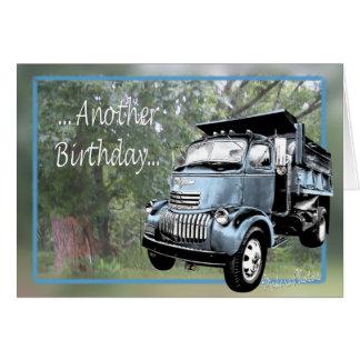 Cartão O azul velho dumptruck-personaliza