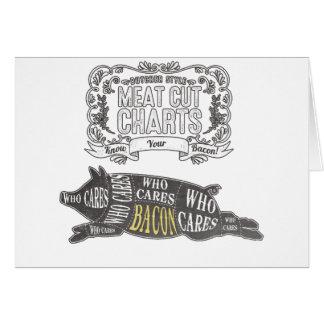 Cartão O BACON sabe seus cortes de carne