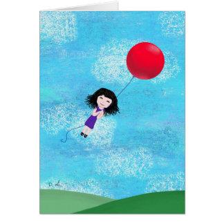 Cartão O balão vermelho