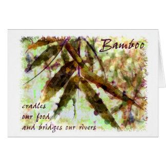 Cartão O bambu em uma chuva delicada… constrói uma ponte