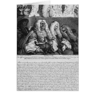 Cartão O banco, 1758