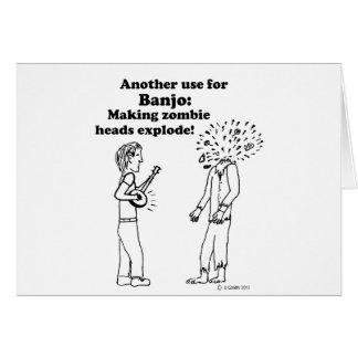 Cartão O banjo faz zombis explodir