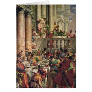 Cartão O banquete do casamento em Cana