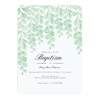Cartão O baptismo da aguarela da videira | do jardim