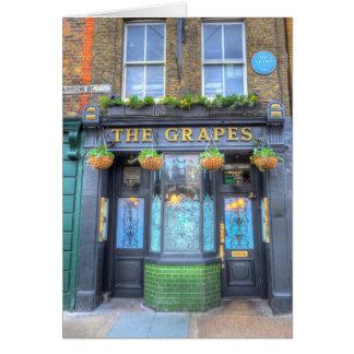 Cartão O bar Londres das uvas