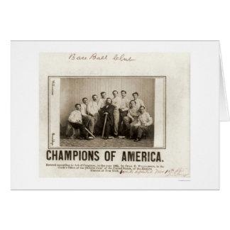 Cartão O basebol de América patrocina 1865