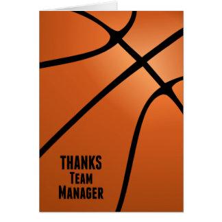 Cartão O basquetebol agradece ao vazio customizável do