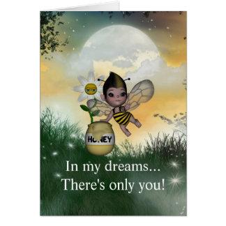 Cartão O bebê adorável bonito Bumble o mel da abelha