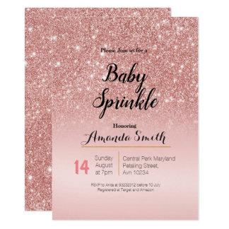 Cartão O bebê cor-de-rosa moderno do rosa do ouro