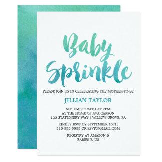 Cartão O bebê da caligrafia da aguarela polvilha