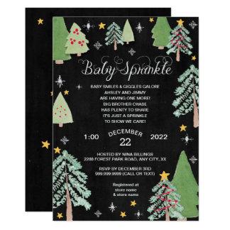 Cartão O bebê do pinheiro do inverno polvilha o quadro