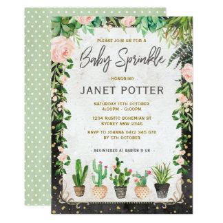 Cartão O bebê do Succulent polvilha as hortaliças do