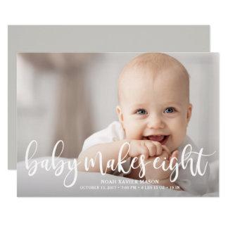 Cartão O bebê faz oito