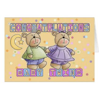 Cartão O bebê novo junta parabéns