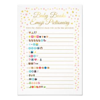 Cartão O bebê registra o rosa e o ouro do jogo de Emoji