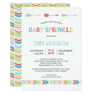 Cartão O bebê tribal actualizado polvilha convida