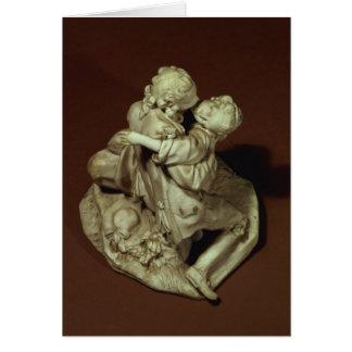 Cartão O beijo, grupo de Sevres, após Boucher, 1765