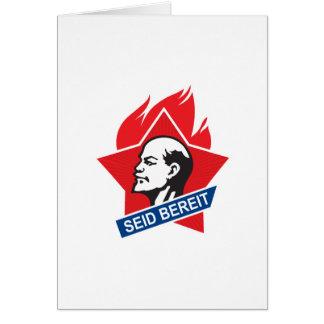 Cartão o bereit do seid - seja preparado