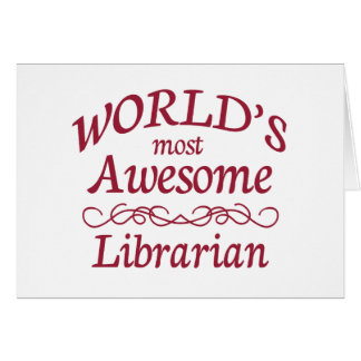 Cartão O bibliotecário o mais impressionante do mundo
