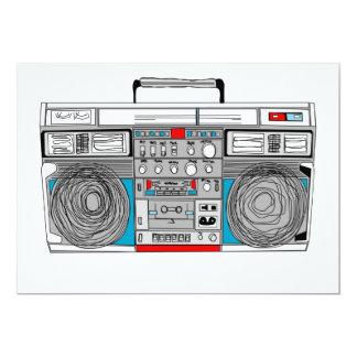 Cartão o boombox 80s convida