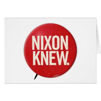 Cartão O botão político Nixon de Richard Nixon do vintage