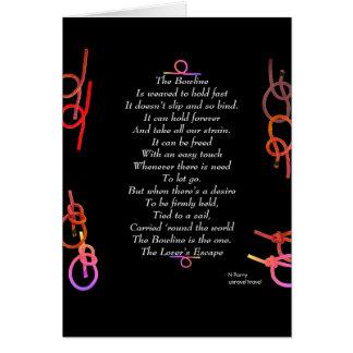 Cartão O Bowline - o escape do amante