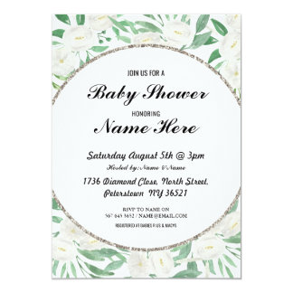 Cartão O branco floral da flor do vintage do chá de