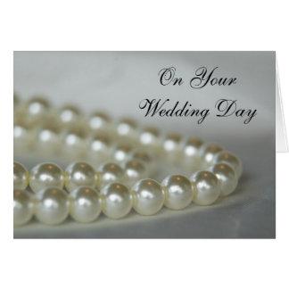 Cartão O branco peroliza o dia do casamento
