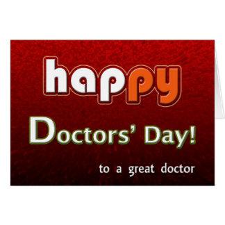 Cartão O Brilhante dos doutores felizes e o colorido