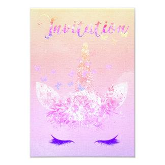 Cartão O brilho do partido do unicórnio chicoteia Ombre