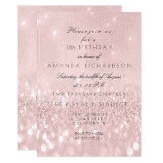 Cartão O brilho magro cora aniversário nupcial do rosa