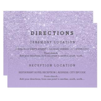 Cartão O brilho roxo moderno da lavanda detalha o