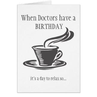 Cartão O café dos doutores Relaxamento Aniversário