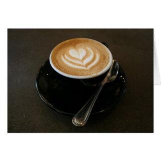 Cartão O café é amor - notecard