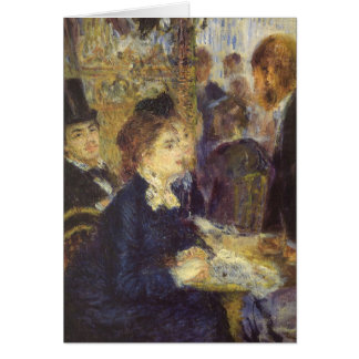 Cartão O café por Pierre Renoir, impressionismo do