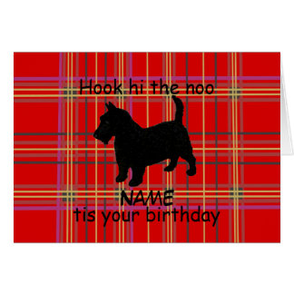 Cartão O cão de Terrier do Scottish personaliza o cartão,