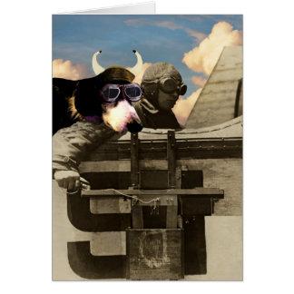 Cartão o cão do vôo