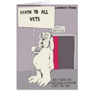 Cartão O cão neutralizado luta para trás presentes &