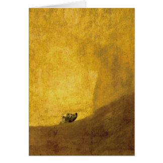 Cartão O cão, por Francisco de Goya