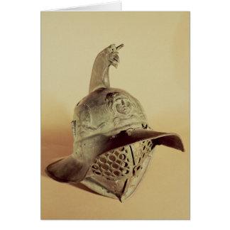 Cartão O capacete do gladiador de Thracian