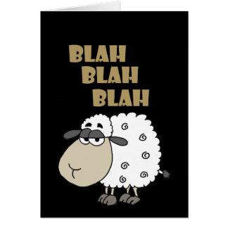 Cartão O carneiro cínico engraçado diz blá - blá