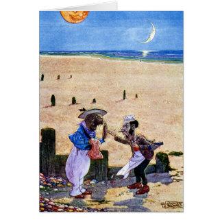 Cartão O carpinteiro e a morsa - Alice no país das