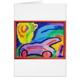 Cartão O carro de Frankie