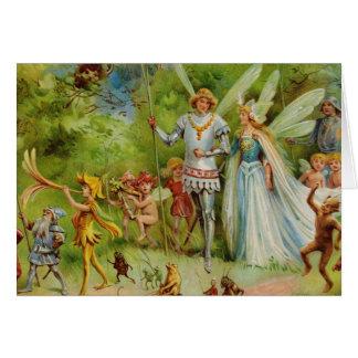 Cartão O casamento de Thumbelina