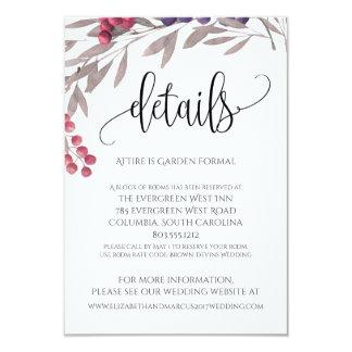 Cartão O casamento detalha o quadro floral 3.5x5 das