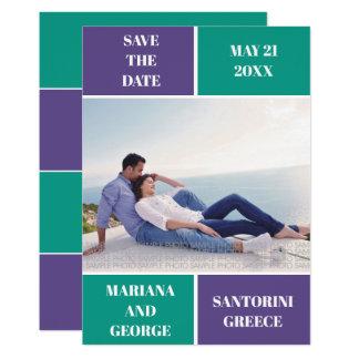 Cartão O casamento do bloco da cor da violeta e da