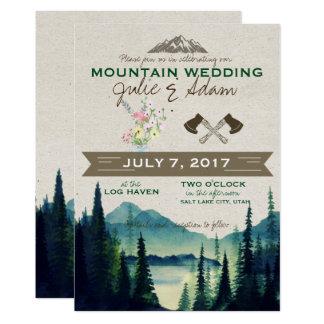 Cartão O casamento/partido da montanha convida