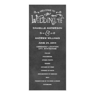 Cartão O casamento programa o encanto do quadro de |
